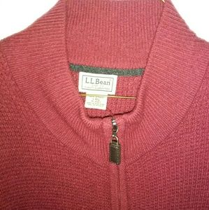 Nwot Mens LL Bean Cardigan L 100% Cashmere Sweater